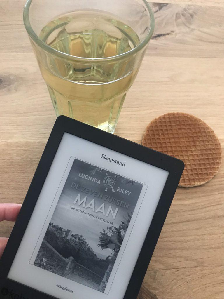 groene thee stroopwafel en mijn e-reader