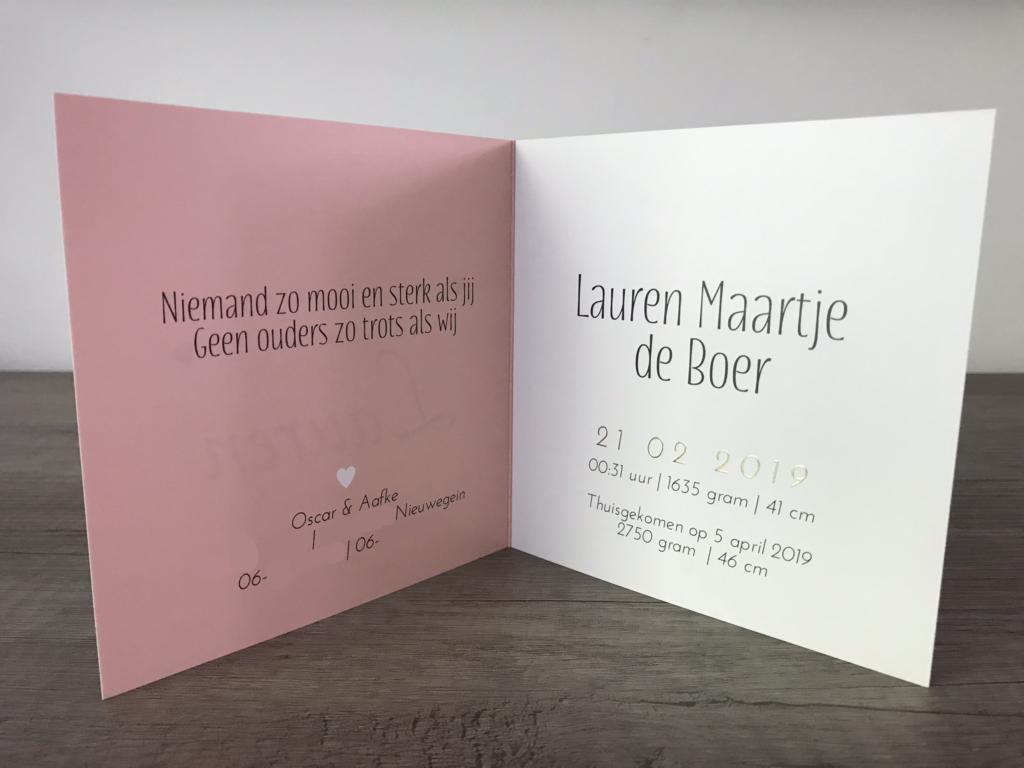 Laurens geboortekaartje