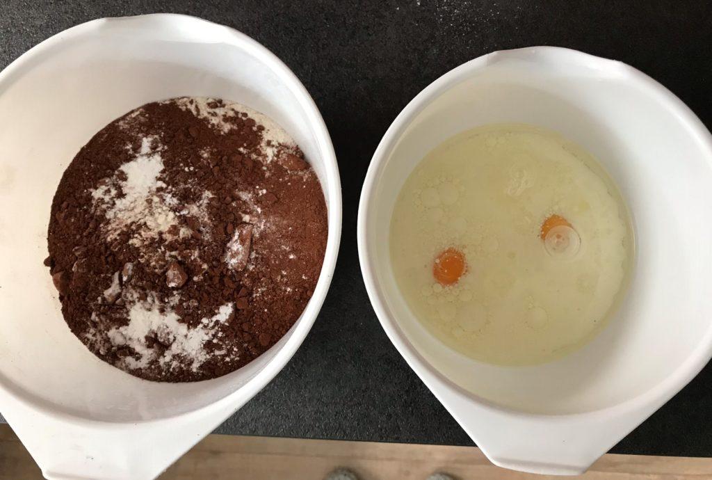ingredienten chocolademuffins