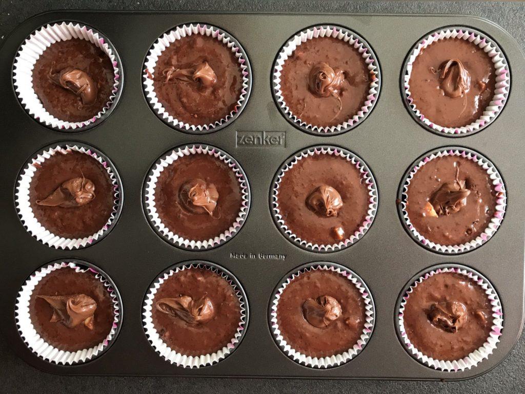 chocolademuffins in bakvorm