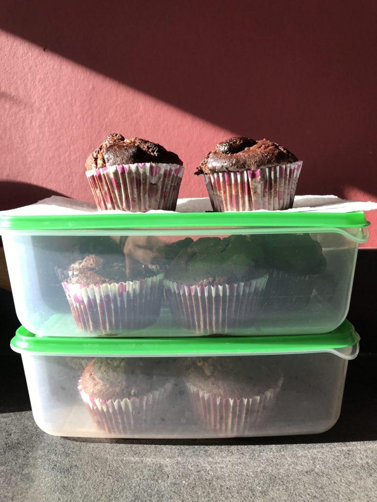 chocolademuffins bewaren