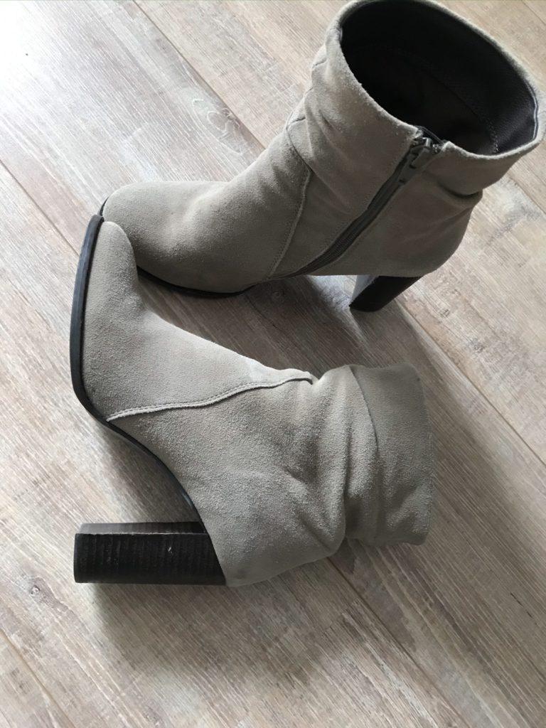 laarzen beige hoge hak