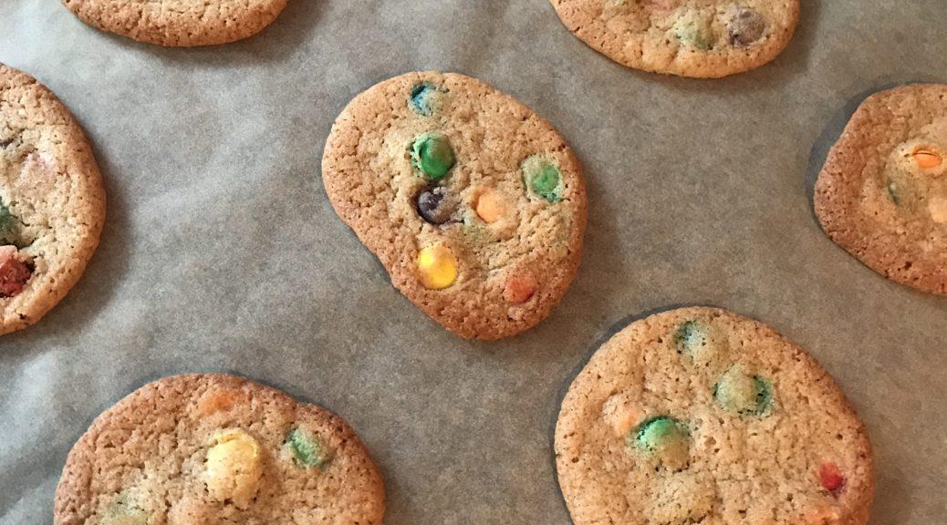 american cookies met M&M